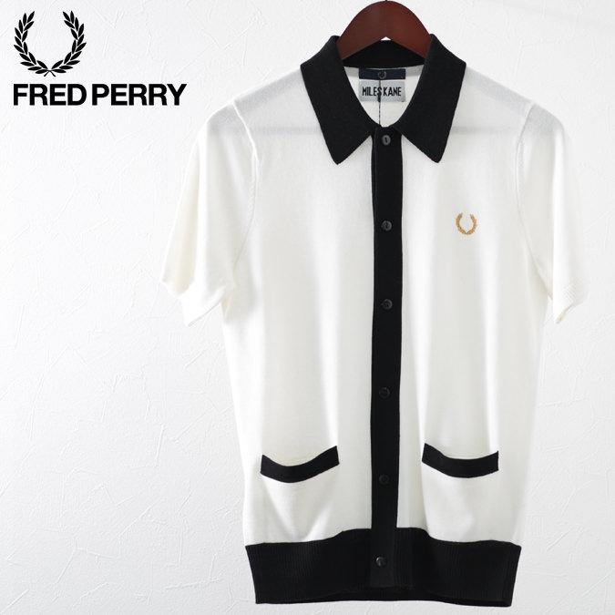 フレッドペリー ポロシャツ ニットシャツ ボタンスルー マイルズ・ケイン  スノーホワイト メンズ Fred Perry 正規販売店