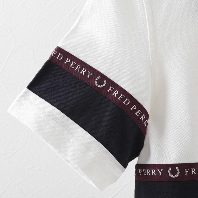 フレッドペリー ポロシャツ ハーフジップ スポーツ テープ 鹿の子 スノーホワイト メンズ Fred Perry 正規販売店