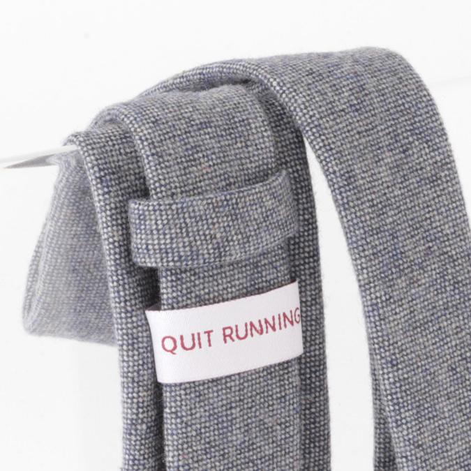 英国ブランドQuit Running ウールタイ  ブルー ドニゴール クイトランニング ギフトBOX付 ハンドメイド