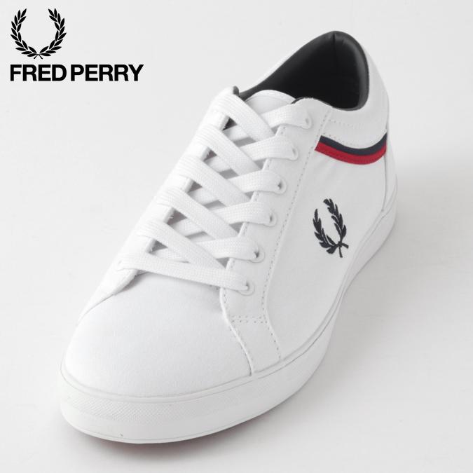 Fred Perry フレッドペリー メンズ スニーカー キャンバス シューズ ベースライン ホワイト 正規販売店
