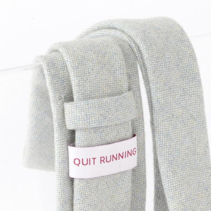 英国ブランドQuit Running ウールタイ  ライトグリーン ドニゴール クイトランニング ギフトBOX付 ハンドメイド