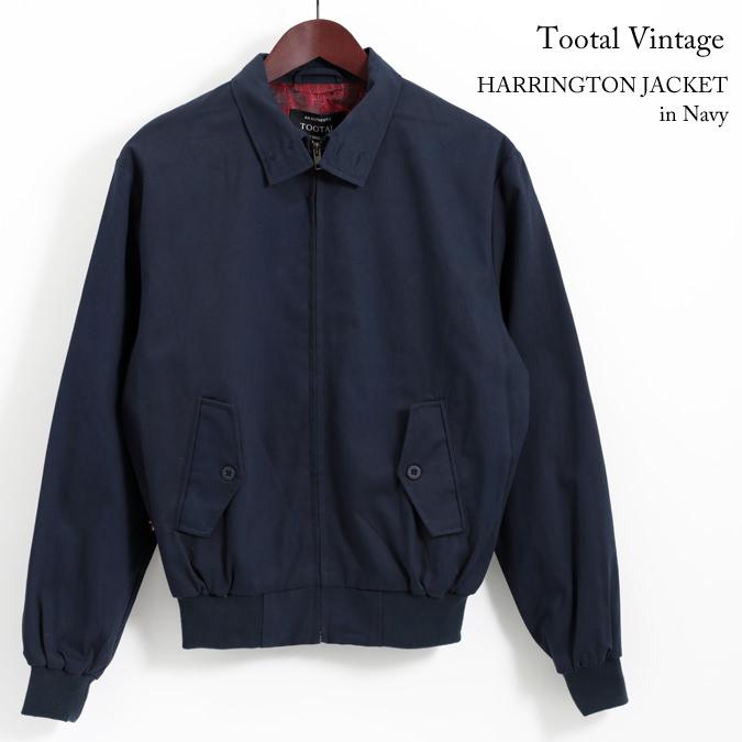 Tootal Vintage トゥータル ヴィンテージ ハリントン ジャケット ネイビー 18SS メンズ