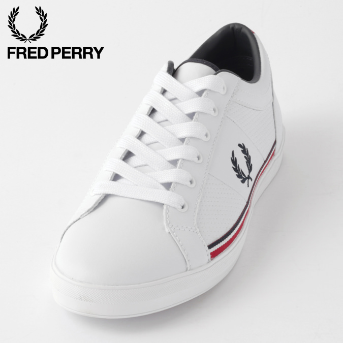 フレッドペリー メンズ スニーカー レザー シューズ ベースライン パーフ Fred Perry ホワイト 正規販売店