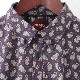 メルクロンドン メンズ ペイズリーシャツ Merc London 長袖シャツ ネイビー モッズファッション
