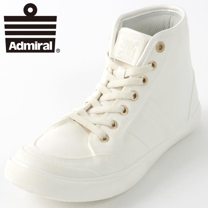 Admiral メンズ スニーカー アドミラル イノマー ハイ INOMER HI WP 19AW シューズ ハイカット レインブーツ ホワイトゴールド