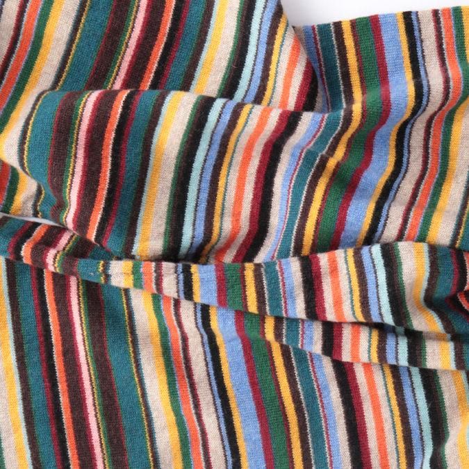 ポールスミス Paul Smith カシミヤ混 ニット マフラー マルチ 180×22cm ストライプ スカーフ メンズ イタリア製 モッズファッション