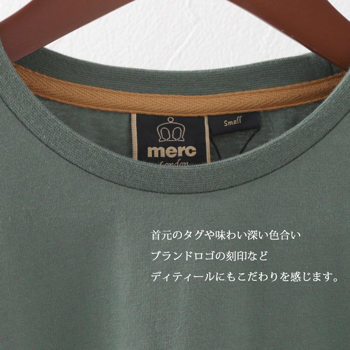 メルクロンドン メンズ Tシャツ コンバットグリーン Merc London グラフィック プリント モッズファッション プレゼント ギフト