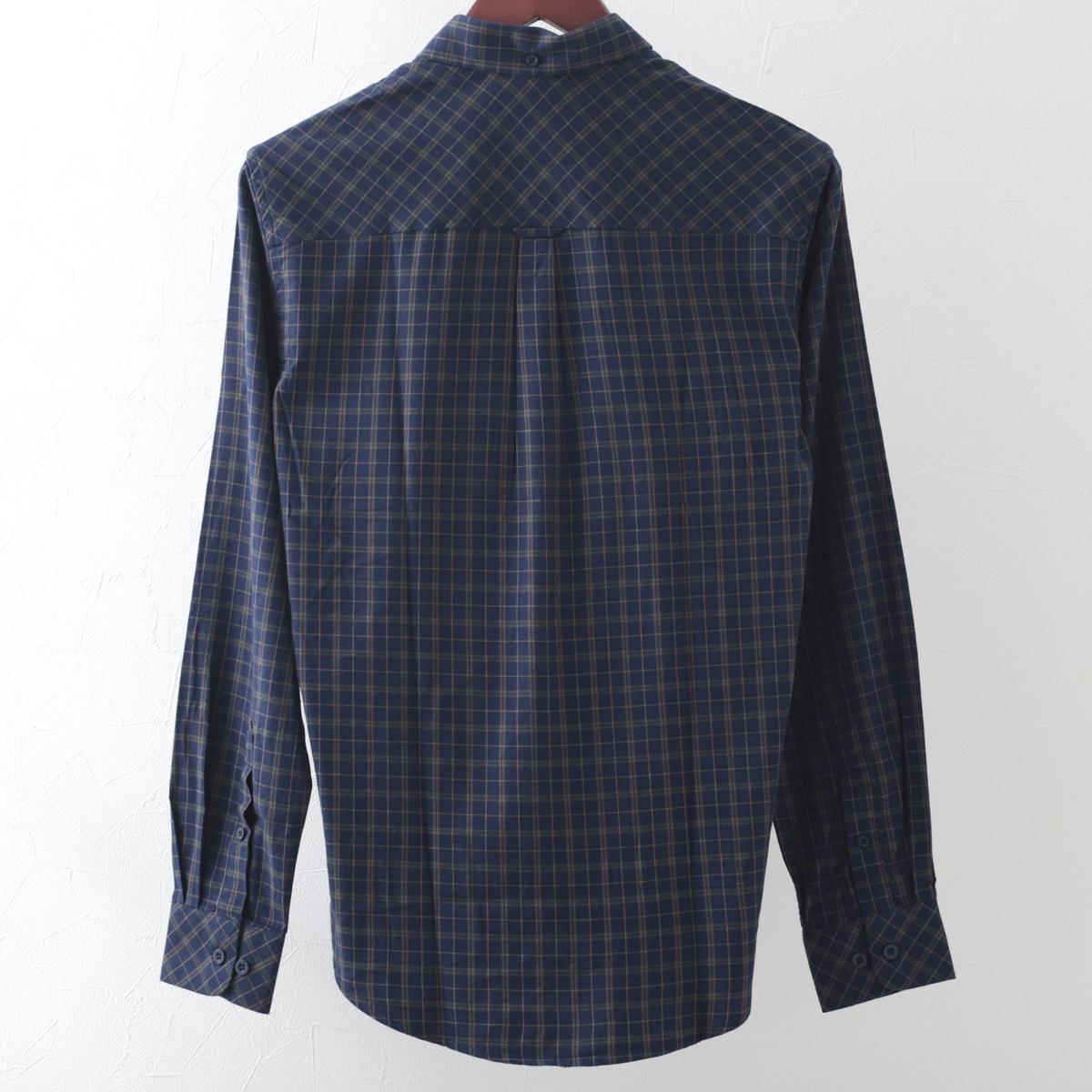 メルクロンドン メンズ フランネル チェックシャツ Merc London ボタンダウン カーキ レッド 2色 モッズファッション プレゼント ギフト