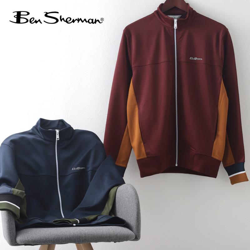 Ben Sherman ベンシャーマン トリコット トラックジャケット ダークネイビー ポート 2色 メンズ
