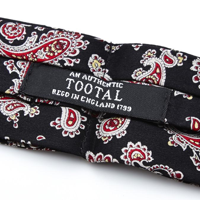 Tootal Vintage Crabat シルク クラバット スカーフ ストール バーガンディー ブラック