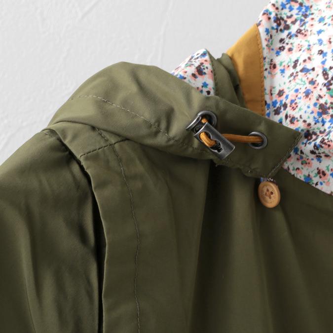 メルクロンドン レディース モッズコート Merc London ライトジャケット 19SS  カーキ 女性 花柄