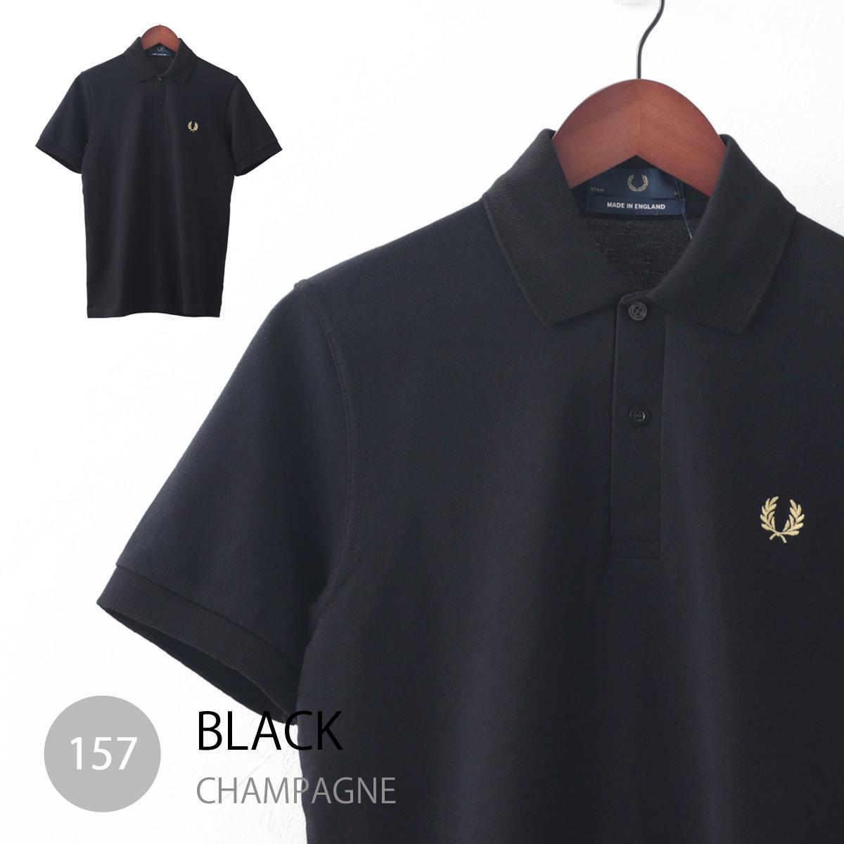 フレッドペリー ポロシャツ M3 3色 The Original One Colour ネイビー ブラック ホワイト 英国製 メンズ Fred Perry 正規販売店