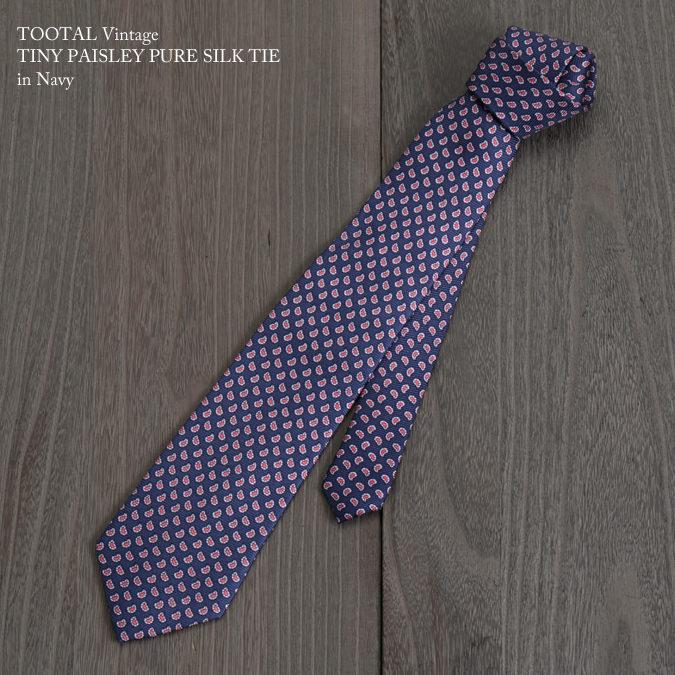 Tootal Vintage トゥータル ヴィンテージ 英国ブランド タイニー ネクタイ コバルト