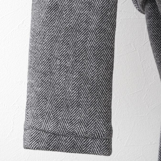 メルクロンドン メンズ オーバーコート ツイード ヘリンボーン ウール Merc London 20SS ダークグレー
