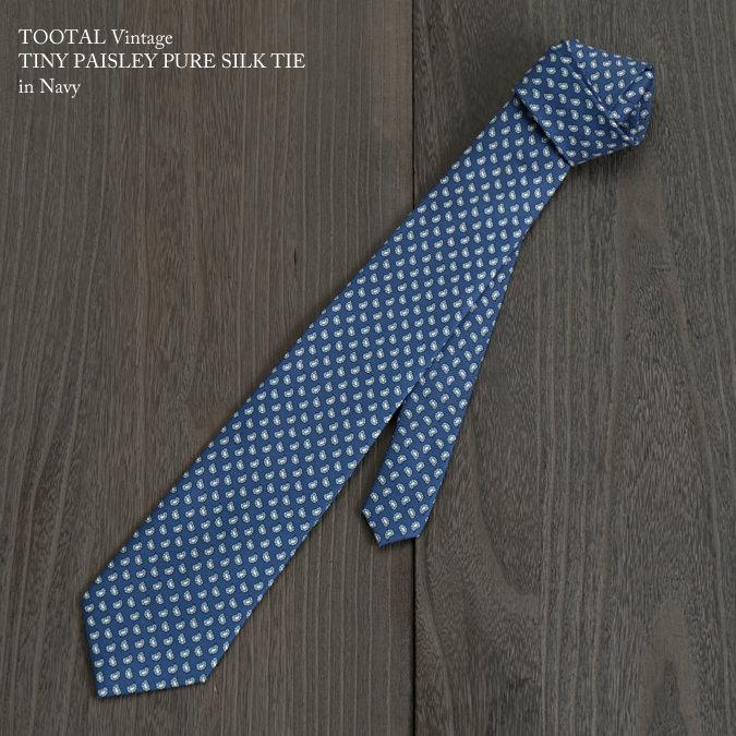 Tootal Vintage トゥータル ヴィンテージ 英国ブランド タイニー ネクタイ ネイビー
