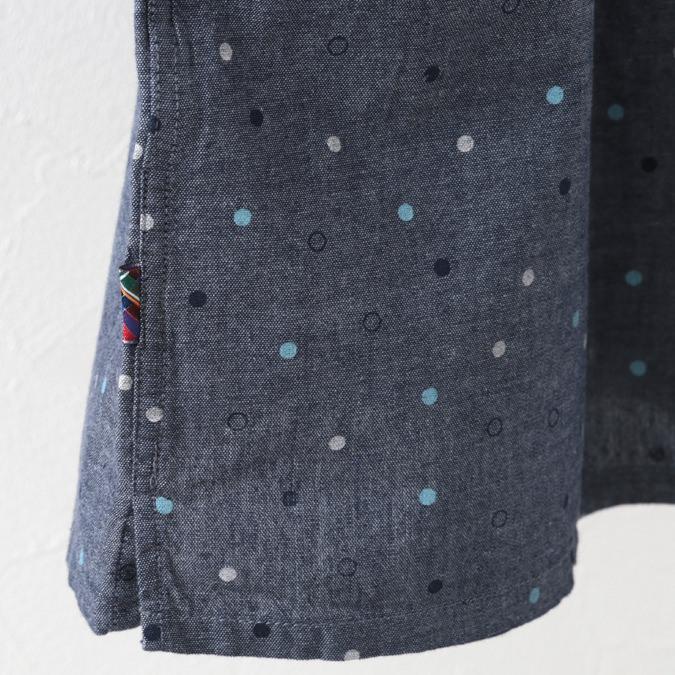 半袖シャツ ドットプリント プレミアム ブルー メンズ Merc London メルクロンドン
