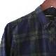 メルクロンドン メンズ フランネルシャツ チェック ブラックウォッチ Merc London 20SS ボトルグリーン