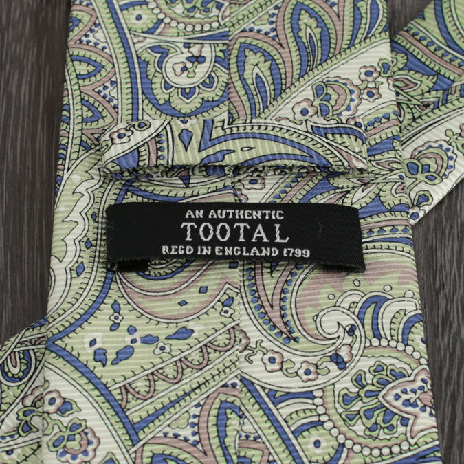 Tootal Vintage トゥータル ヴィンテージ 英国ブランド ペイズリー ネクタイ グリーン