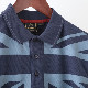 ポロシャツ ジオプリント 2色 ネイビー クール メンズ Merc London メルクロンドン