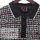 メルクロンドン メンズ ハウンドトゥース ニットポロシャツ Merc London ブラック チェック 千鳥格子 モッズファッション プレゼント ギフト