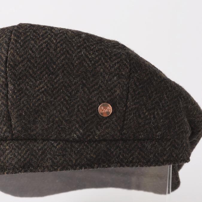 Laird Hatters メンズ キャスケット 英国製 ハンチング ウール ブルックリン ヘリンボーン ツイード レアードハッター Brooklyn 帽子 イギリス製
