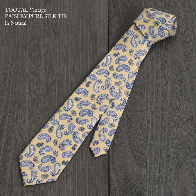 Tootal Vintage トゥータル ヴィンテージ 英国ブランド ペイズリー ネクタイ ナチュラル