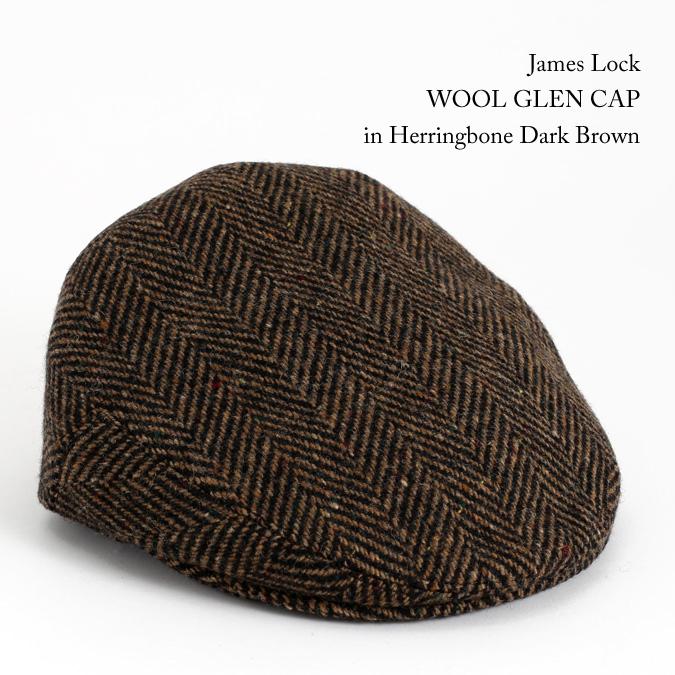 James Lock ジェームスロック ハンチング WOOL GLEN グレン ツイード ヘリンボーン ダークブラウン