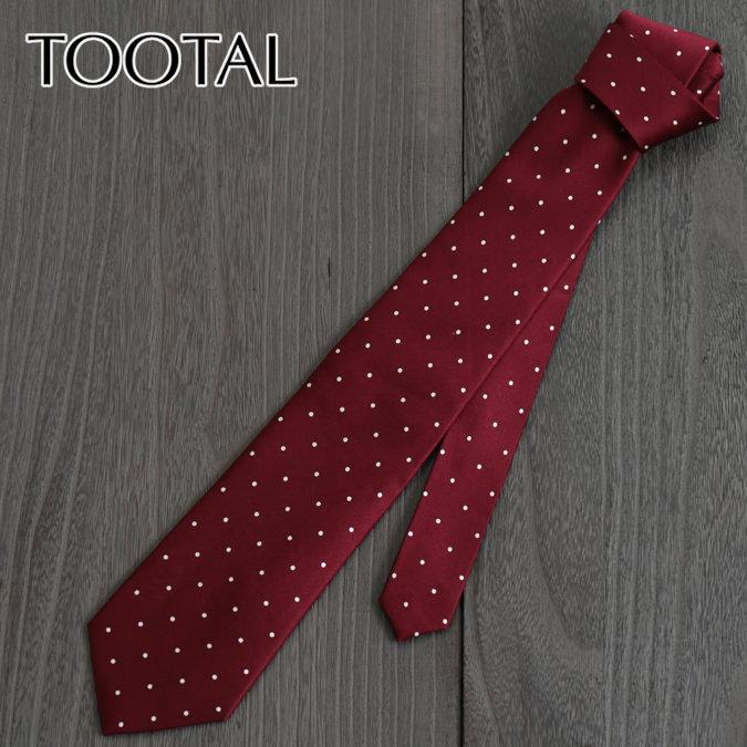 Tootal Vintage トゥータル ヴィンテージ 英国ブランド 水玉ドット ネクタイ バーガンディー