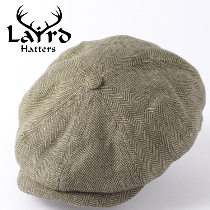 Laird Hatters メンズ キャスケット 英国製 オールシーズンハンチング アイリッシュリネン ブルックリン ヘリンボーン レアードハッター 帽子 イギリス製