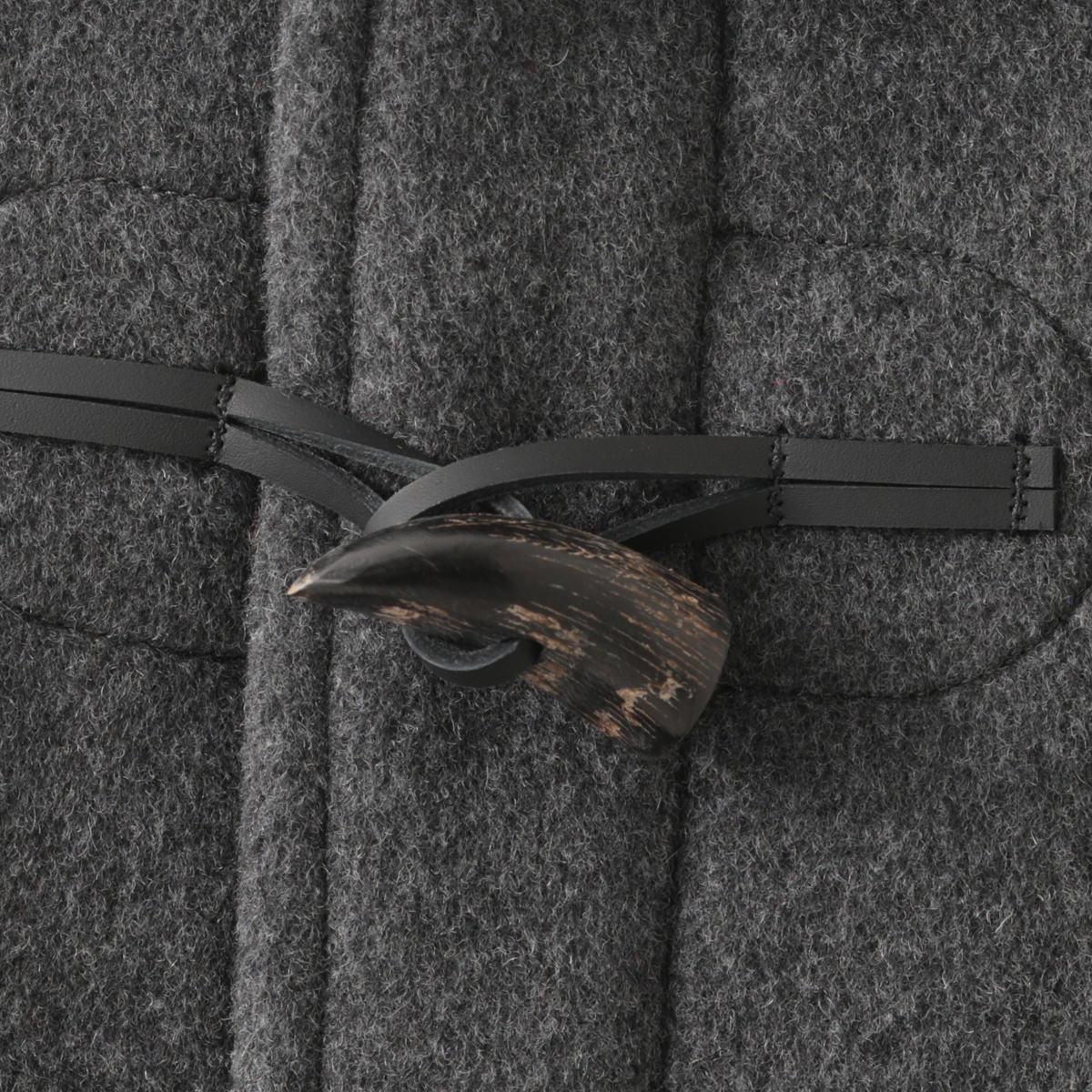 LONDON TRADITION メンズ スリムロングダッフルコート ミッドグレー MARTIN 秋冬 英国製 ウール ロンドントラディション マーティン チェック 上着 MADE IN ENGLAND ギフト 長い 厚手 防寒 トラッド