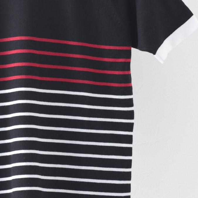 Madcap England メンズ ポロシャツ ポロ ニット マッドキャップ レトロ ボーダー 2色 ブラック ネイビー モッズファッション