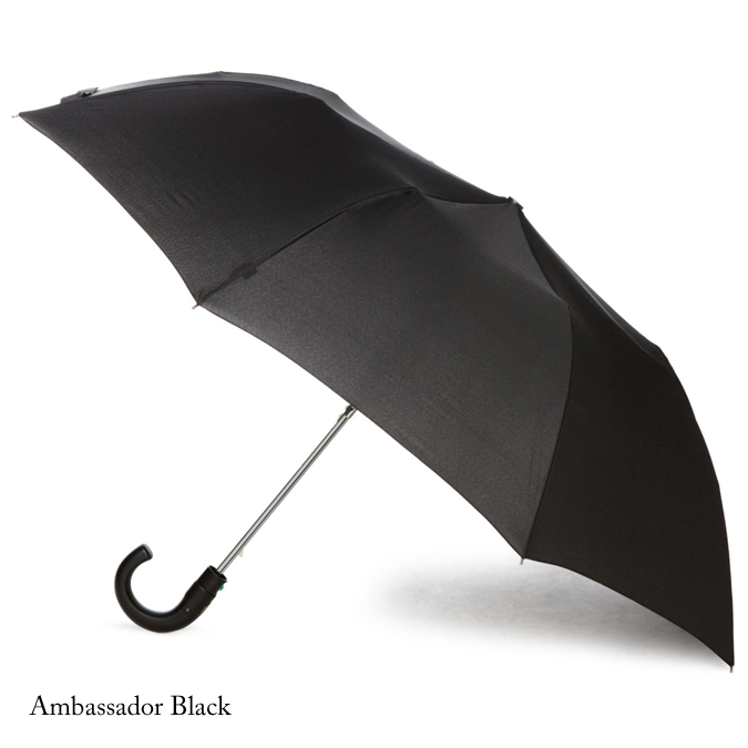 FULTON フルトン 傘 折りたたみ メンズ Ambassador ワンタッチ ジャンプ ジャンプ傘 正規 かさ ブラック 黒 プレゼント