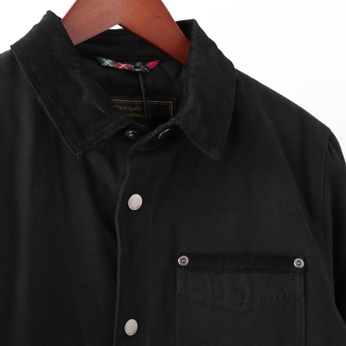 メルクロンドン メンズ ワークジャケット Merc London W1 プレミアム 19SS  ブラック
