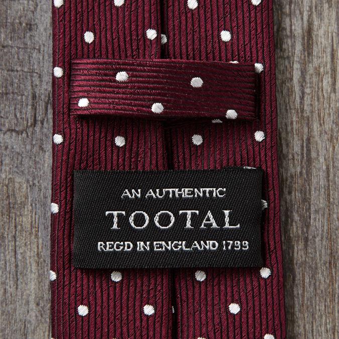 Tootal Vintage トゥータル ヴィンテージ シルクネクタイ ポルカドット バーガンディー