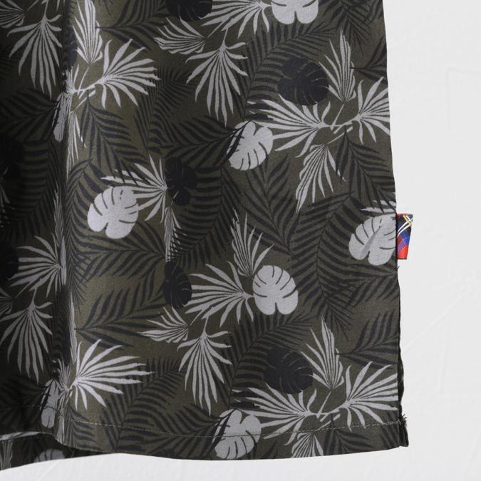 メルクロンドン メンズ 半袖シャツ Merc London ボタニカル 19SS 新作 W1 プレミアム 2色 ダークセージ オフホワイト
