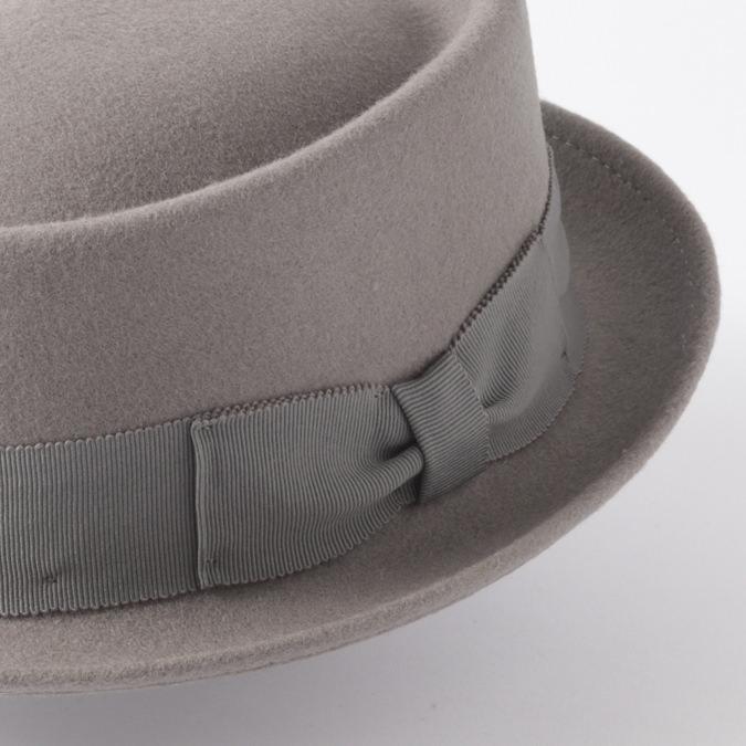 Laird Hatters メンズ ポークパイ フェルトハット 英国製 ウール レアードハッター ドイル ラウンド 帽子 イギリス製 ハンドメイド グレー