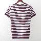 Madcap England Tシャツ ストライプ ジンファンデルホワイト マッドキャップ レッド メンズ