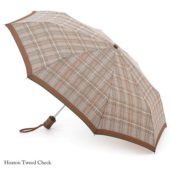 フルトン FULTON 傘 アンブレラ メンズ Hoxton 紳士用 紳士 折りたたみ傘  英国王室御用達 ホクストン ツイード チェック ブラウン Umbrella