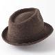 Laird Hatters メンズ トラベラーハット フェルトハット 英国製 ウール トリルビー レアードハッター Traveller 帽子 ハンドメイド ブラウン