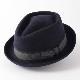 Laird Hatters メンズ ポークパイ フェルトハット ウール 英国製 レアードハッターV 帽子 ハンドメイド ネイビー