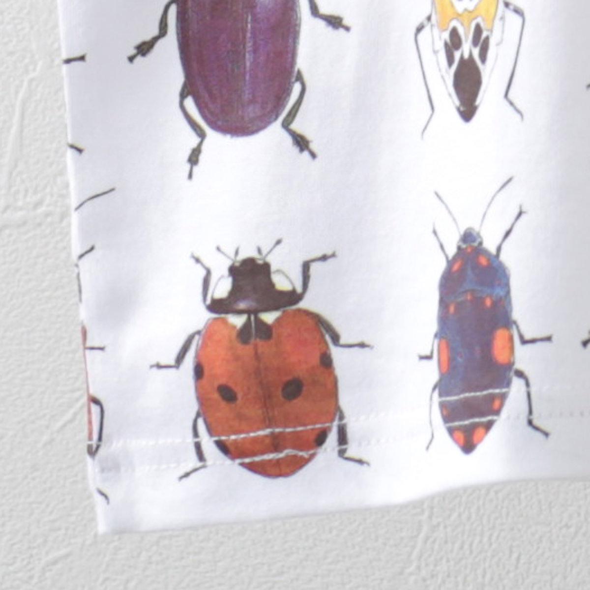 Madcap England Tシャツ Beetle コガネムシ White マッドキャップ レッド メンズ