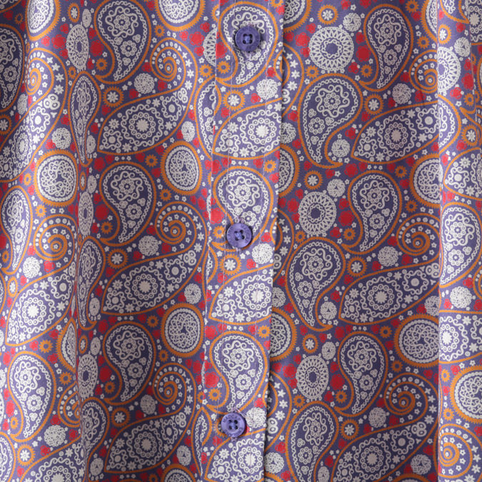 Madcap England メンズ 長袖シャツ ペイズリー ビーグル カラー ヘチマ衿 マッドキャップ イングランド