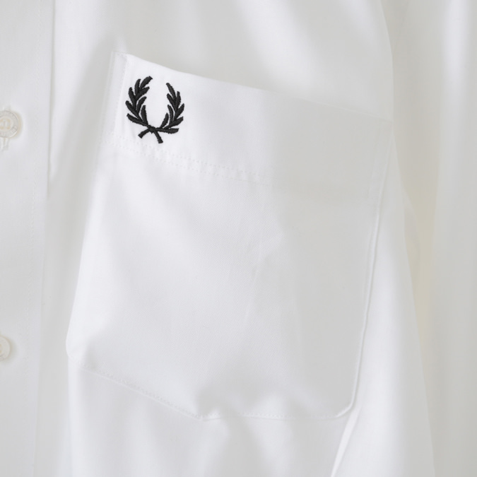 フレッドペリー メンズ オックスフォードシャツ フォーマル プレッピー Fred Perry 3色 ホワイト ミディバルブルー ダークソーン