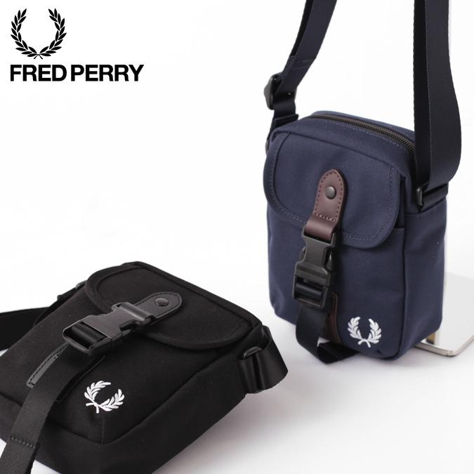 フレッドペリー ショルダーバッグ スモール 小さい ミニ 17×13×5.5cm 2色 ネイビー ブラック 男女兼用 ユニセックス Fred Perry 正規販売店
