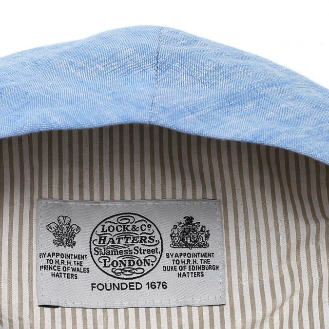 James Lock ジェームスロック Lock & Co リネンキャップ ハンチング 麻 リネン 帽子 スカイ
