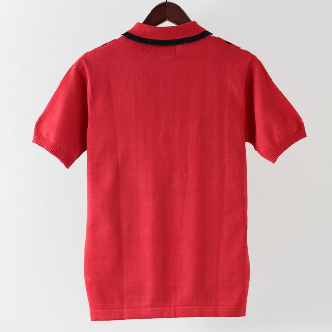 Madcap England メンズ ポロシャツ ポロ パラレルストライプ 19SS レッド マッドキャップ