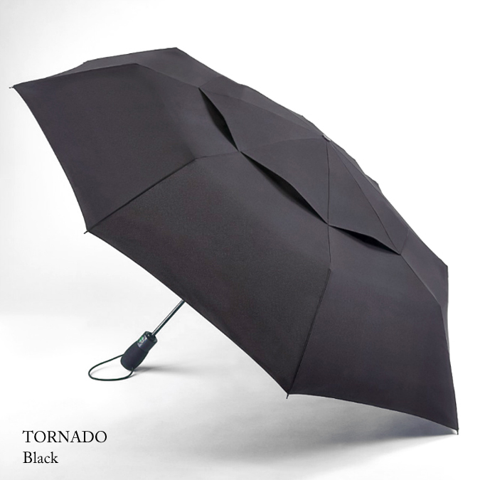 FULTON フルトン 傘 折りたたみ メンズ Tornado ワンタッチ ジャンプ傘 強風 紳士 男性 ブラック 正規 かさ