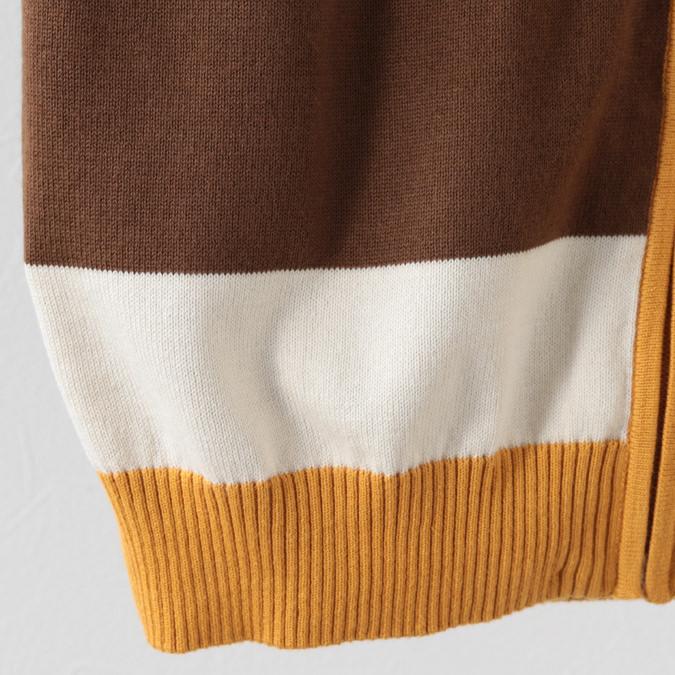 Madcap England メンズ ポロシャツ ポロ パッチワークタイル ジップスルー 19SS バックソーン オレンジ マッドキャップ
