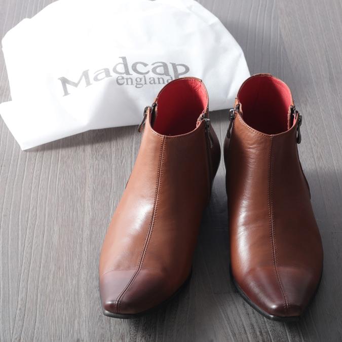 Madcap England メンズ チェルシーブーツ マッドキャップ サンダーボルト キューバンヒール 本革 タン