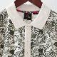 メルクロンドン メンズ ポロシャツ ポロ Merc London ボタニカルプリント 19SS  W1 プレミアム オフホワイト
